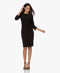 no man's land Burn-out Velvet Dress - Black