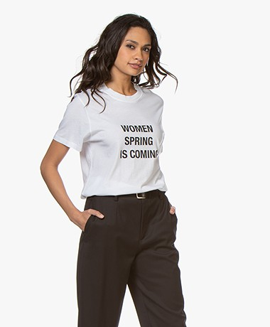 IRO Wyona Print T-shirt - Wit