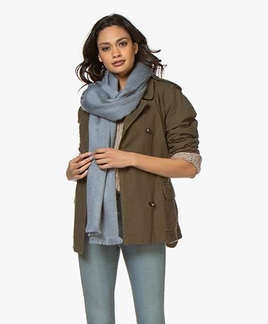 Alpaca Loca Handgemaakte Uni Sjaal in Alpaca - Ijsblauw