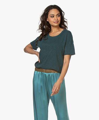 American Vintage Sonoma Boxy T-shirt - Peacock Blue