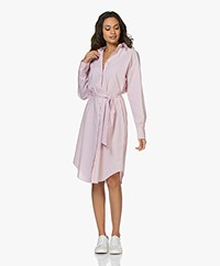 forte_forte Tick Stripe Poplin Shirt Dress - Rosa