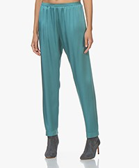 forte_forte Loose-fit  Crepe Satin Pants - Topazio