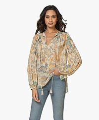 Vanessa Bruno Natanael Viscose Crepe Blouse - Cream/Multi-color