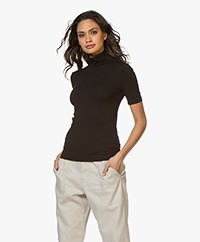 Wolford Aurora Cradle-to-Cradle Turtleneck Tee - Black