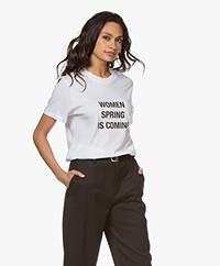 IRO Wyona Print T-shirt - White