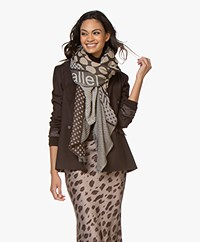 LaSalle Viscose Scarf with Dots - Brown/Beige