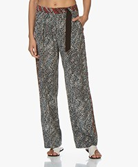 Rag & Bone Colette Zijden Loose-fit Broek - Multi-color