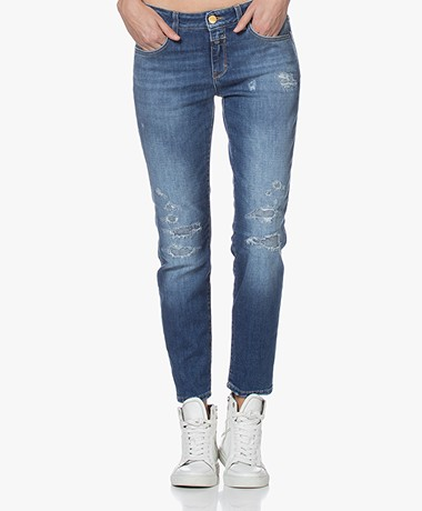 Closed Baker Distressed Slim-fit Jeans - Blauw