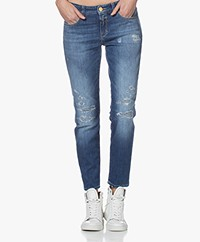 Closed Baker Distressed Slim-fit Jeans - Blue