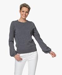 Plein Publique La Coeur Merino Wool Sweater - Dark Grey