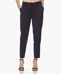Drykorn Business Wool Blend Pants - Dark Navy