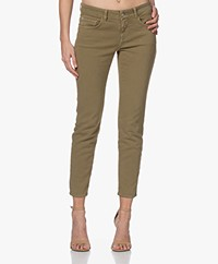 Closed Baker Mid-rise Slim-fit Twill Pants - Green Umber
