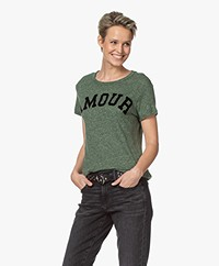 Zadig & Voltaire Walk Amour Print T-shirt - Amande