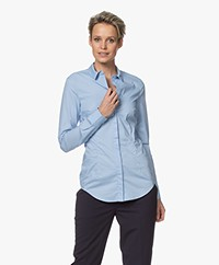Drykorn Livy Stretch Poplin Blouse - Light Blue