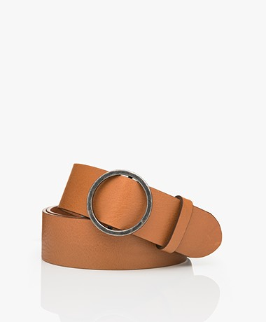 American Vintage Leather Atimoy Belt with Ring Buckle - Camel