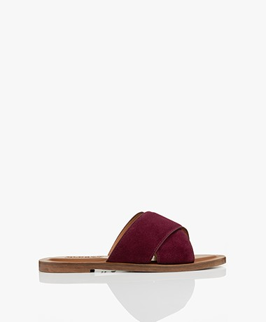 Closed Thyme Suede Leather Sandals - Raisin