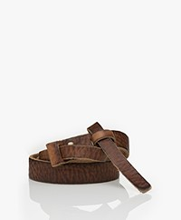 Pomandère Leather Pull-through Belt - Brown