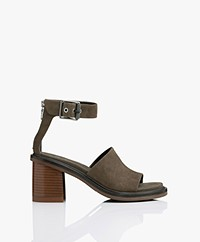 Rag & Bone Soren Suede Sandals with Heel - Safari Khaki
