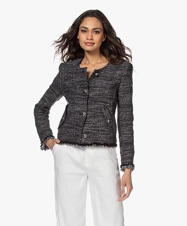 IRO Shakes Short Blazer with Lurex - Black/Silver