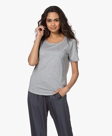 Repeat Jersey Lyocell Mix T-shirt - Grijs