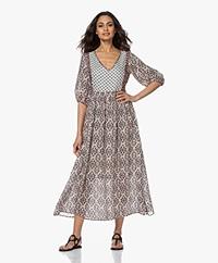 MKT Studio Rocher Printed Viscose Dress - Multi-color