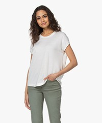 Repeat Bamboo Blend Short Sleeve Sweater - Cream