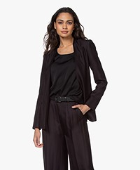 By Malene Birger Nivellah Open Herringbone Blazer - Black