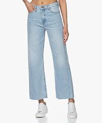 ba&sh Alix Raw Hem Jeans - Light Used Blue
