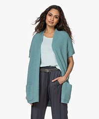 American Vintage Cutebay Open Cardigan - Grey Blue