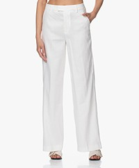 Closed Lyn Linen Blend Wide Leg Pants - Ivory