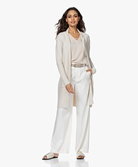 Belluna Vancouver Knee-length Cotton Cardigan - Sand