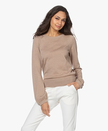 Plein Publique La Coeur Merino Wool Sweater - Sand