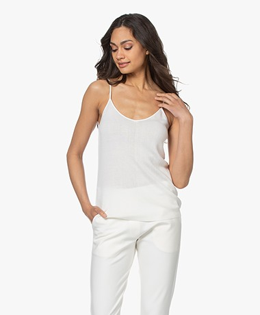Josephine & Co Lisa Knitted Spaghetti Strap Top - Off-white