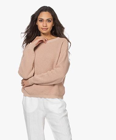 by-bar Malu Cotton Rib Sweater - Nude