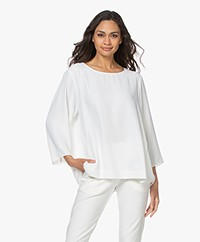 Woman by Earn Amelie Oversized Crepe Blouse - Off-white