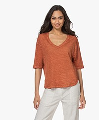 Vanessa Bruno Neil Linen T-shirt - Cannelle