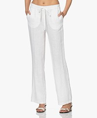 Josephine & Co Lodewijk Linnen Drawstring Broek - Off-white