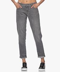 Denham Monroe Girlfriend Fit Jeans - Grey