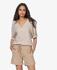 by-bar Liva Linnen Blouse - Sand