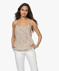 Josephine & Co Lucky Crêpe Viscose Print Top - Mokka