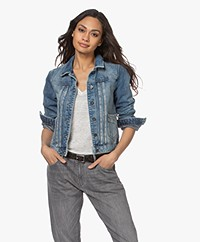 by-bar Smile Denim Jacket - Mid-blue