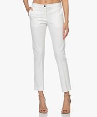 Woman by Earn Stretch Cotton Pants - White
