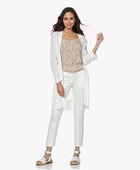 Josephine & Co Lili Tencelmix Open Vest - Off-white