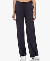 Woman by Earn Lizzy Satin Wide Leg Pants - Indigo