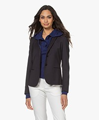 Filippa K Jackie Cool Wool Blazer - Dark Navy
