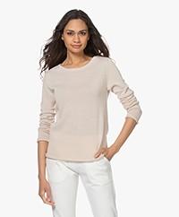 Woman by Earn Paris Fine Knit Striped Sweater - Sand/White