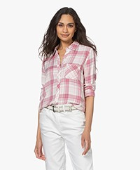 Rails Hunter Checkered Blouse - White Rose Tulip