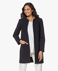 studio .ruig Claire Long Blazer - Dark Blue