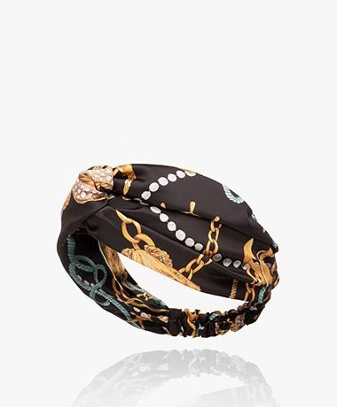 WOUF Sailor Satijnen Haarband - Zwart