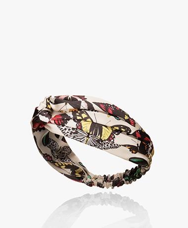 WOUF Papillons Satin Headband - Ecru